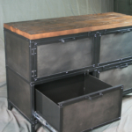 Industrial horizontal filing cabinet