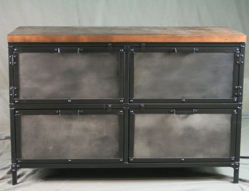 Industrial File Cabinet with Storage, Industrial Style Dresser