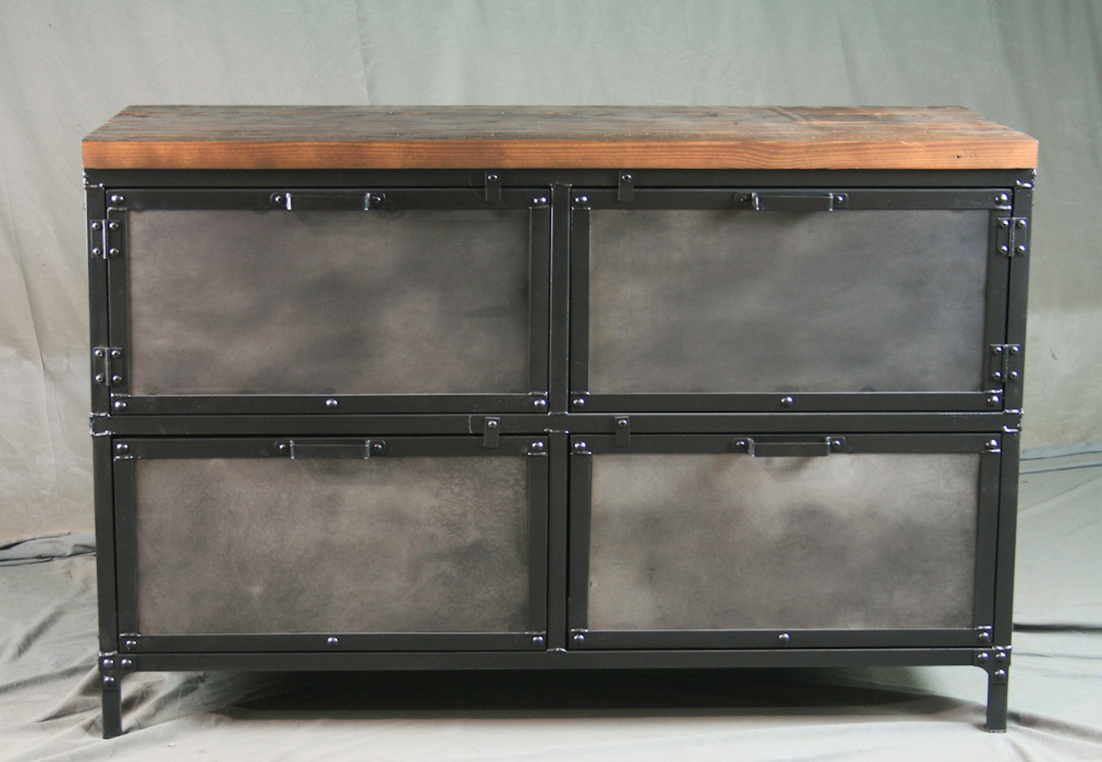 Combine 9 Industrial Furniture Industrial File Cabinet With Storage