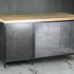 Modern Distressed Steel Desk