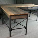 Industrial Desk with Reclaimed Wood Top