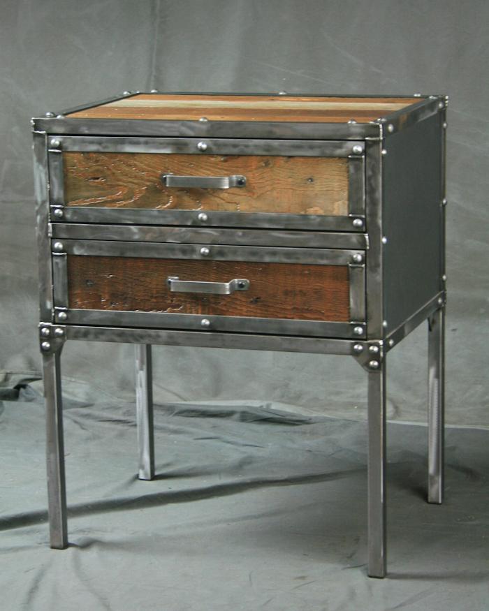 This Sleek And Rustic Industrial Table Would Look Great In: Industrial Furniture – Industrial Modern End