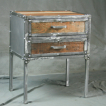 Industrial Night Stand with polished finish