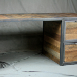 Vintage Industrial Desk with Reclaimed Wood