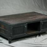 Steel and Reclaimed Wood Coffee Table