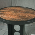 modern Steel and Reclaimed Wood Table