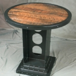 Rustic reclaimed wood bistro table