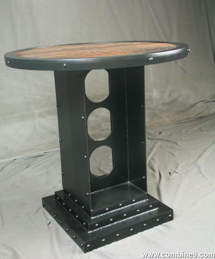 Round Bistro Table · Vintage Industrial Bistro Table