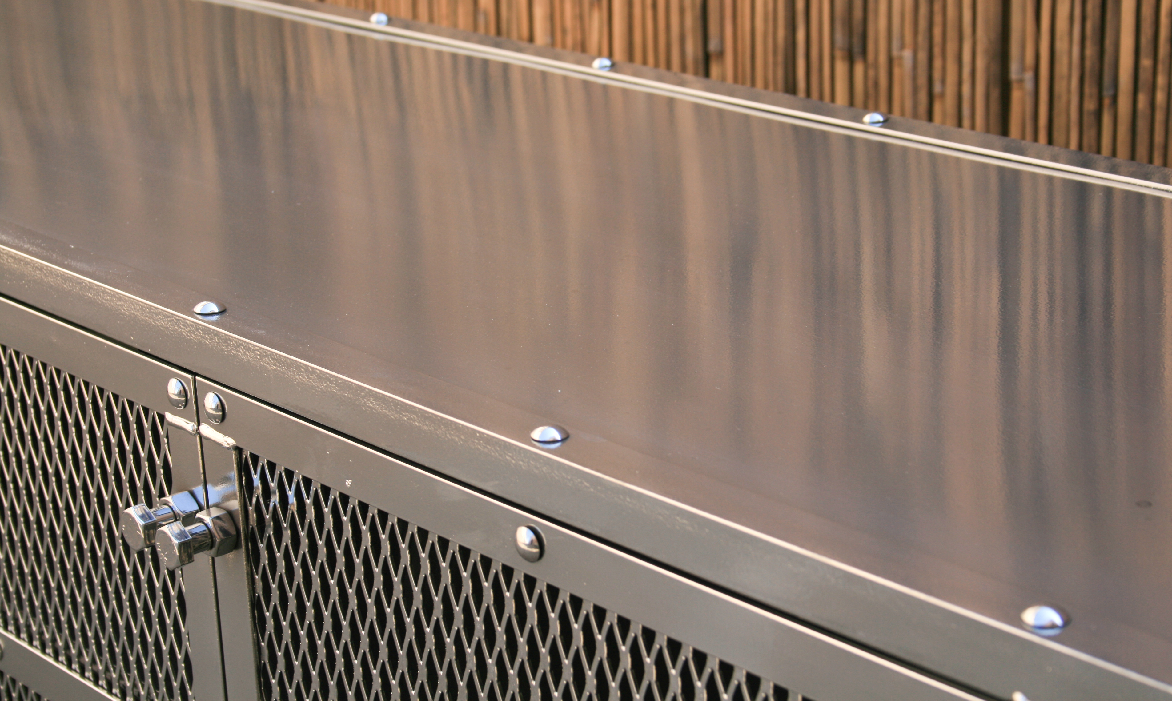 Chrome Credenza Perfect for Patios or Outdoor Bars