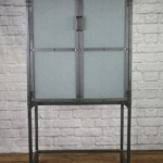 apothecary cabinet with frosted glass