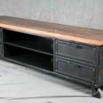 metal and reclaimed wood credenza