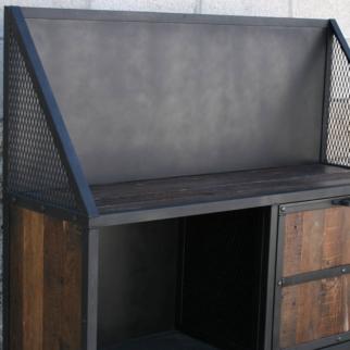 vintage industrial bar cart liquor cabinet