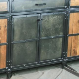 vintage style buffet backbar back bar liquor cabinet storage