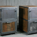 file cabinet with mesh doors