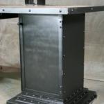 Modern steel and walnut desk