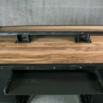 Industrial walnut desk