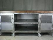 Industrial steel kitchen island