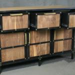 brass rivet sideboard