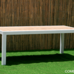 Powder coated patio table
