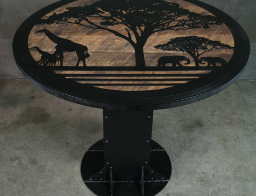 Round Safari Industrial Table