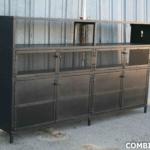 Industrial Steel liquor cabinet