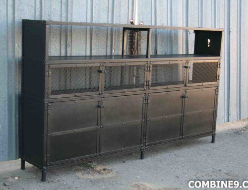 Vintage Industrial China Cabinet