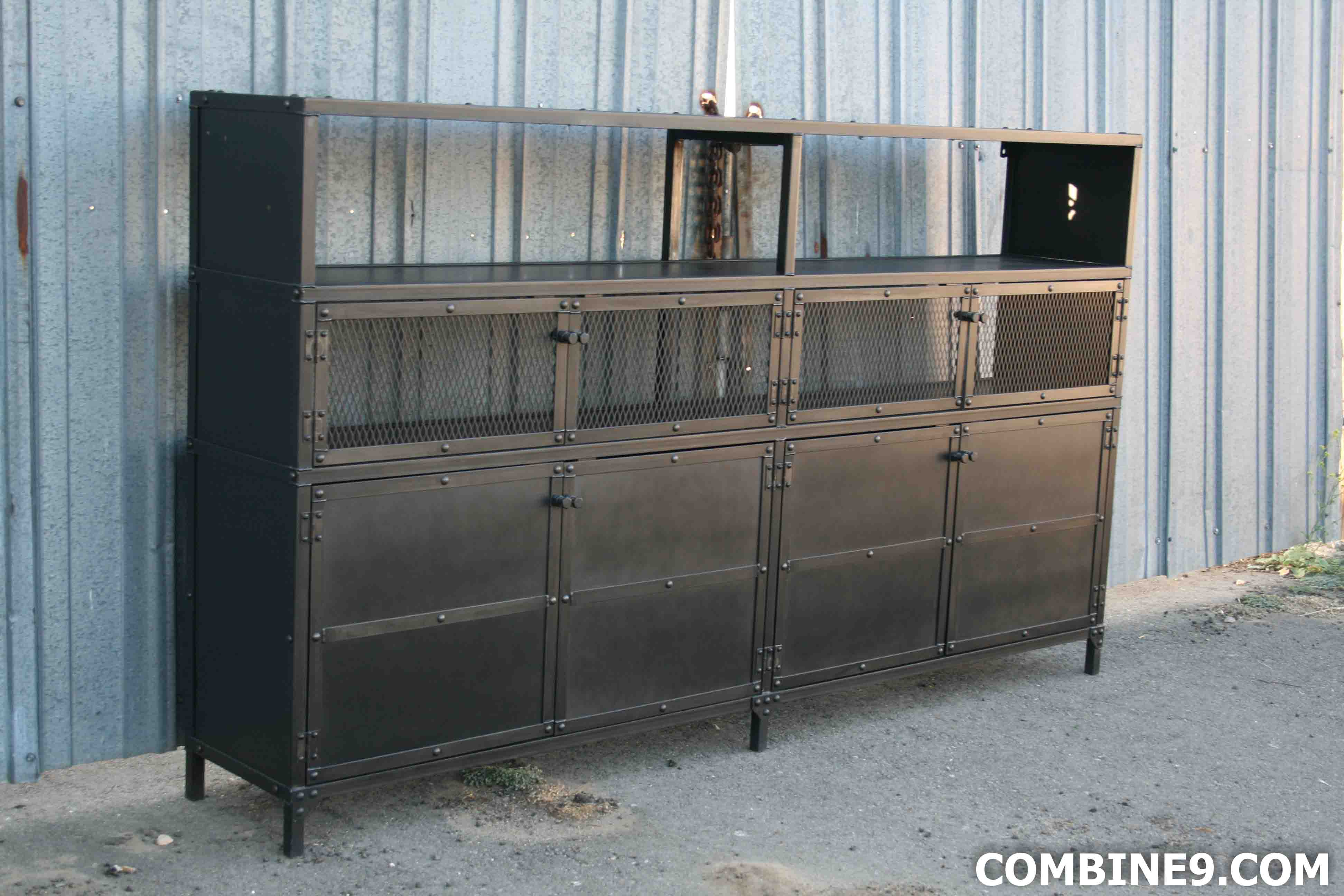 Industrial Steel liquor cabinet