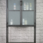 apothecary with frosted glass