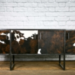 Leather media console