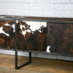 real leather sideboard