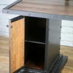 Wood Desk Cabinet with shelf