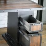 Wood Desk Drawer Storage