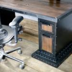Reclaimed wood desk drawers