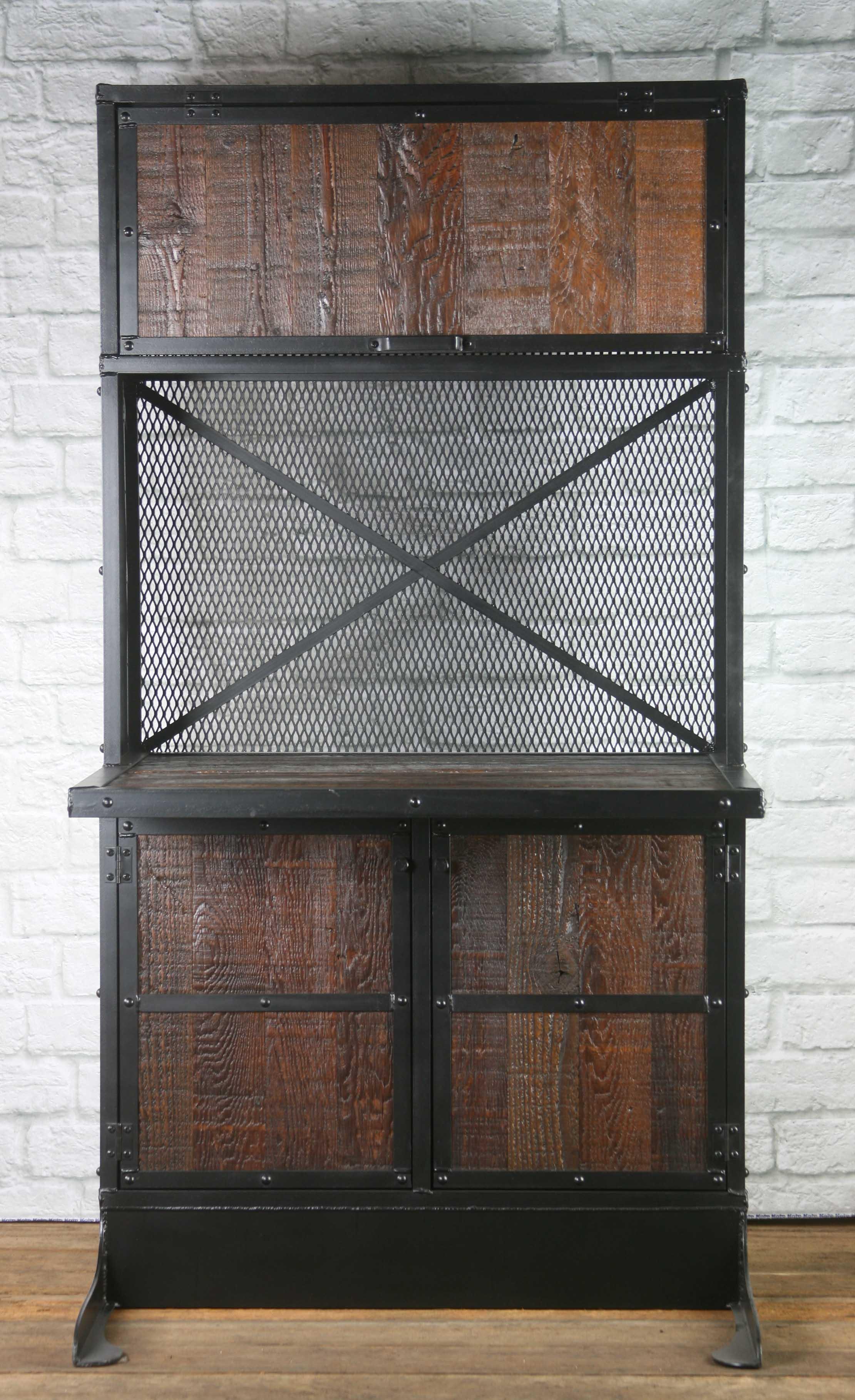 Reclaimed Wood Rustic Home Office: Vintage Industrial Workstation, Rustic Computer Desk