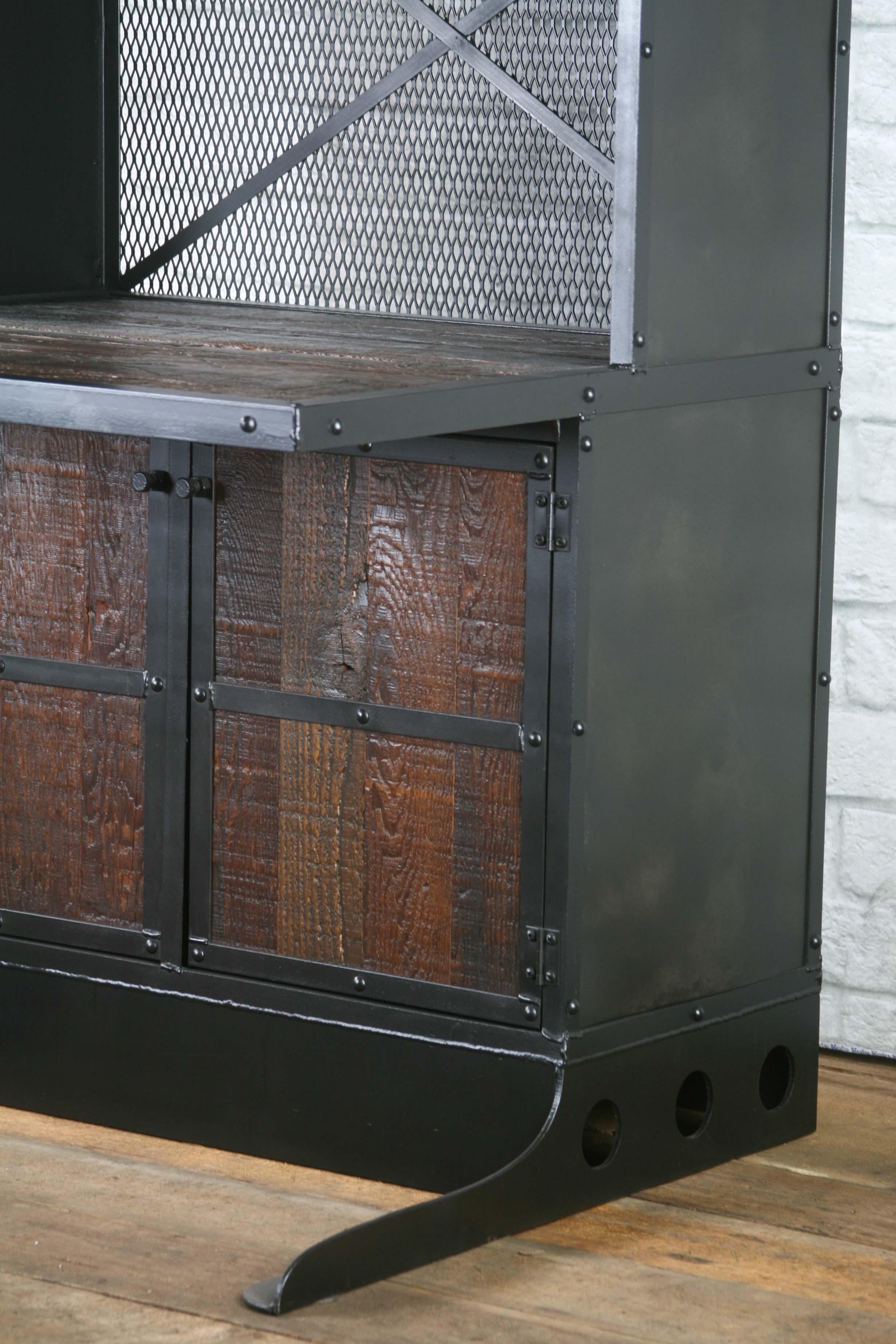 Vintage Industrial Workstation, Rustic Computer Desk