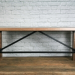 Rustic walnut desk