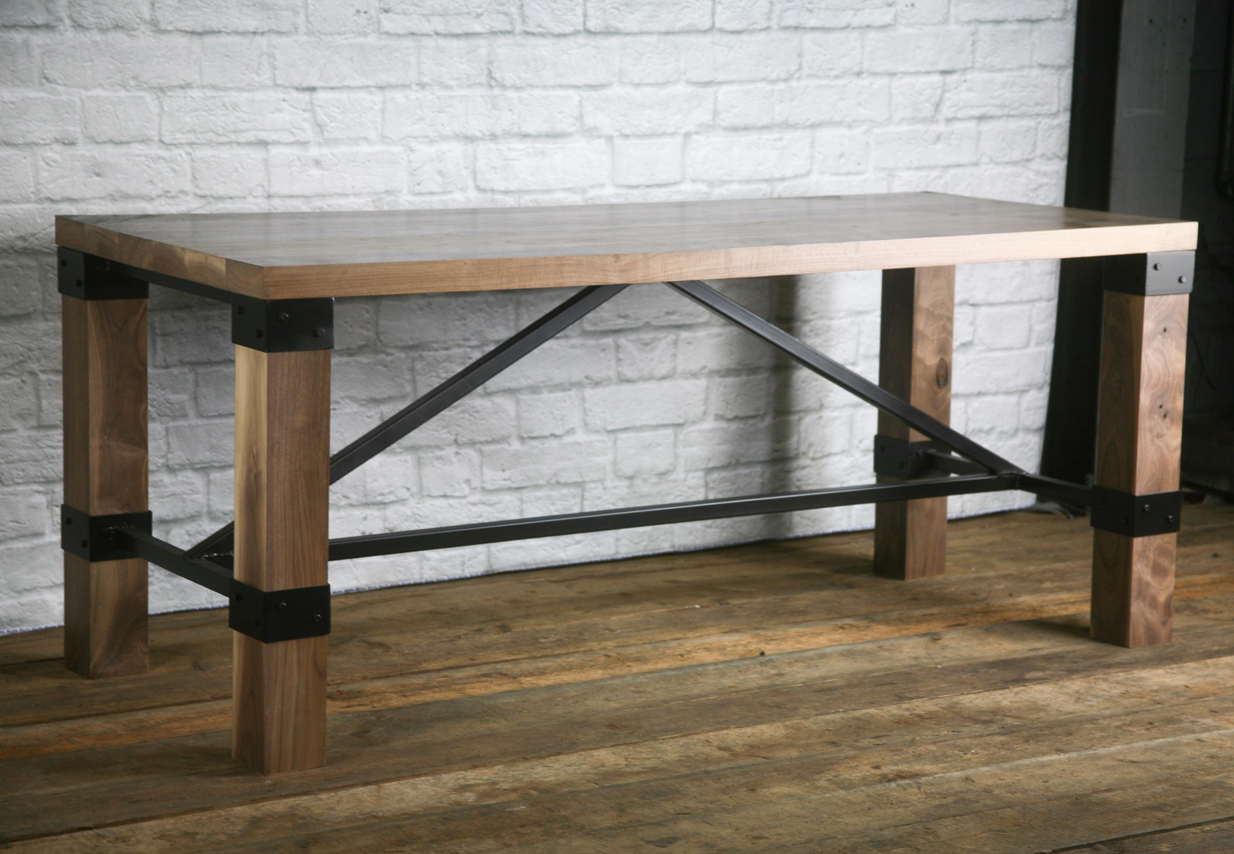 Rustic industrial farmhouse table walnut desk rustic kitchen island modern conference table retail display