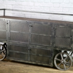 modern industrial trolley cart