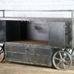 Trolley cart with cabinet