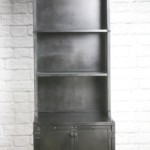 modern industrial retail display cabinet