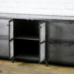 Steel filing cabinet with center cabinet