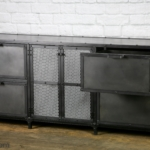 Modern industrial filing cabinet