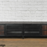 Media console with reclaimed wood