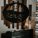 Modern Industrial Reclaimed Wood and Steel Signage