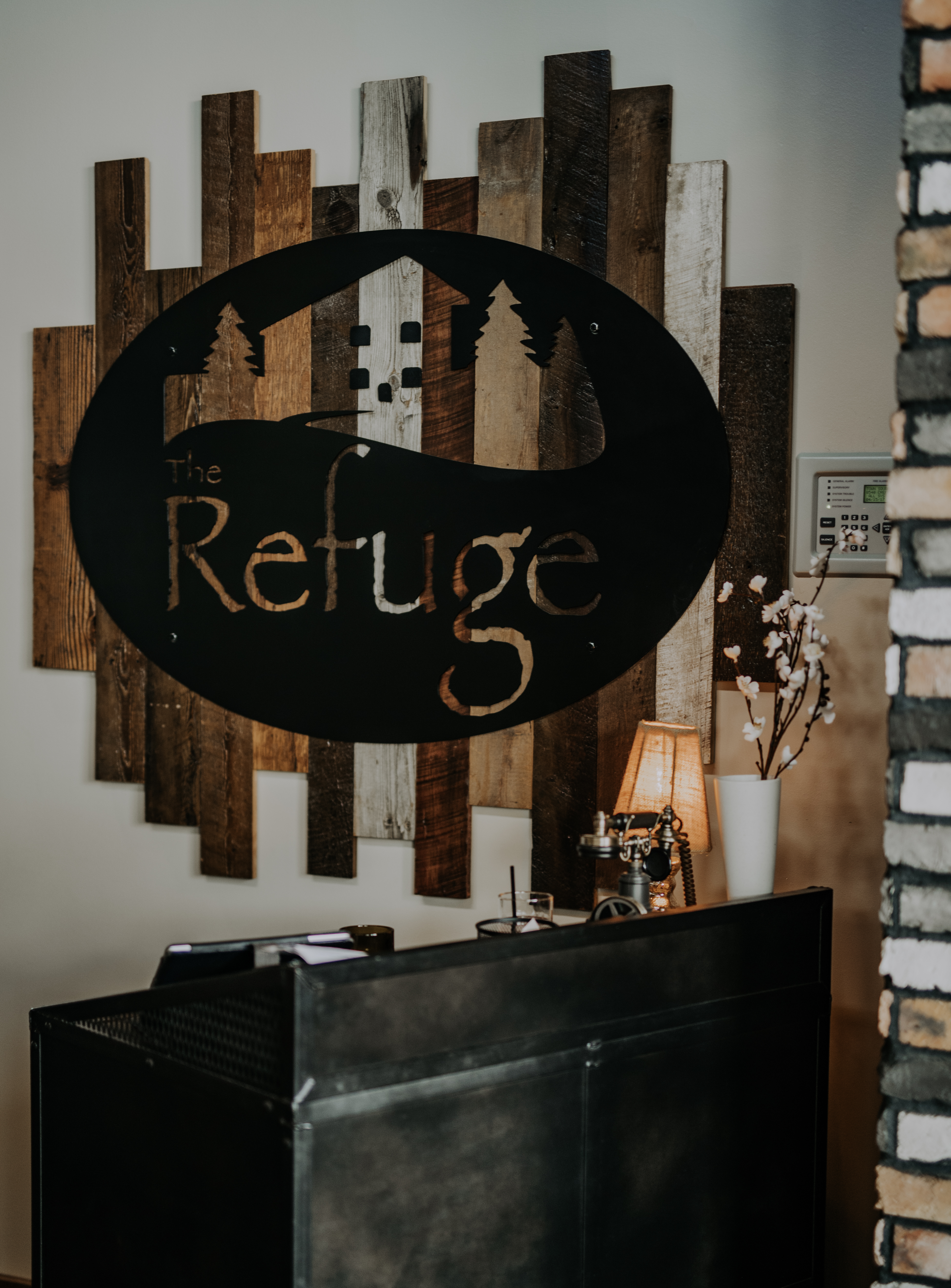 Reclaimed Wood And Steel Sign Combine 9 Industrial
