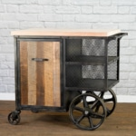 rustic industrial kitchen island