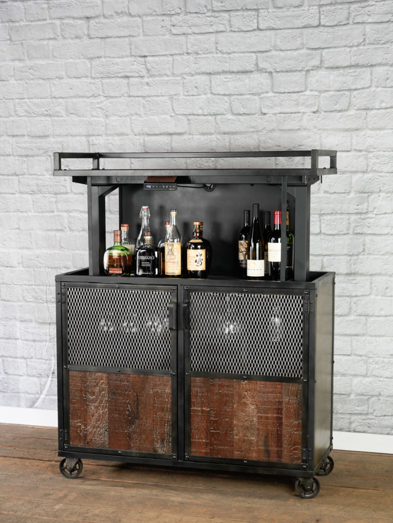pop up bar cart