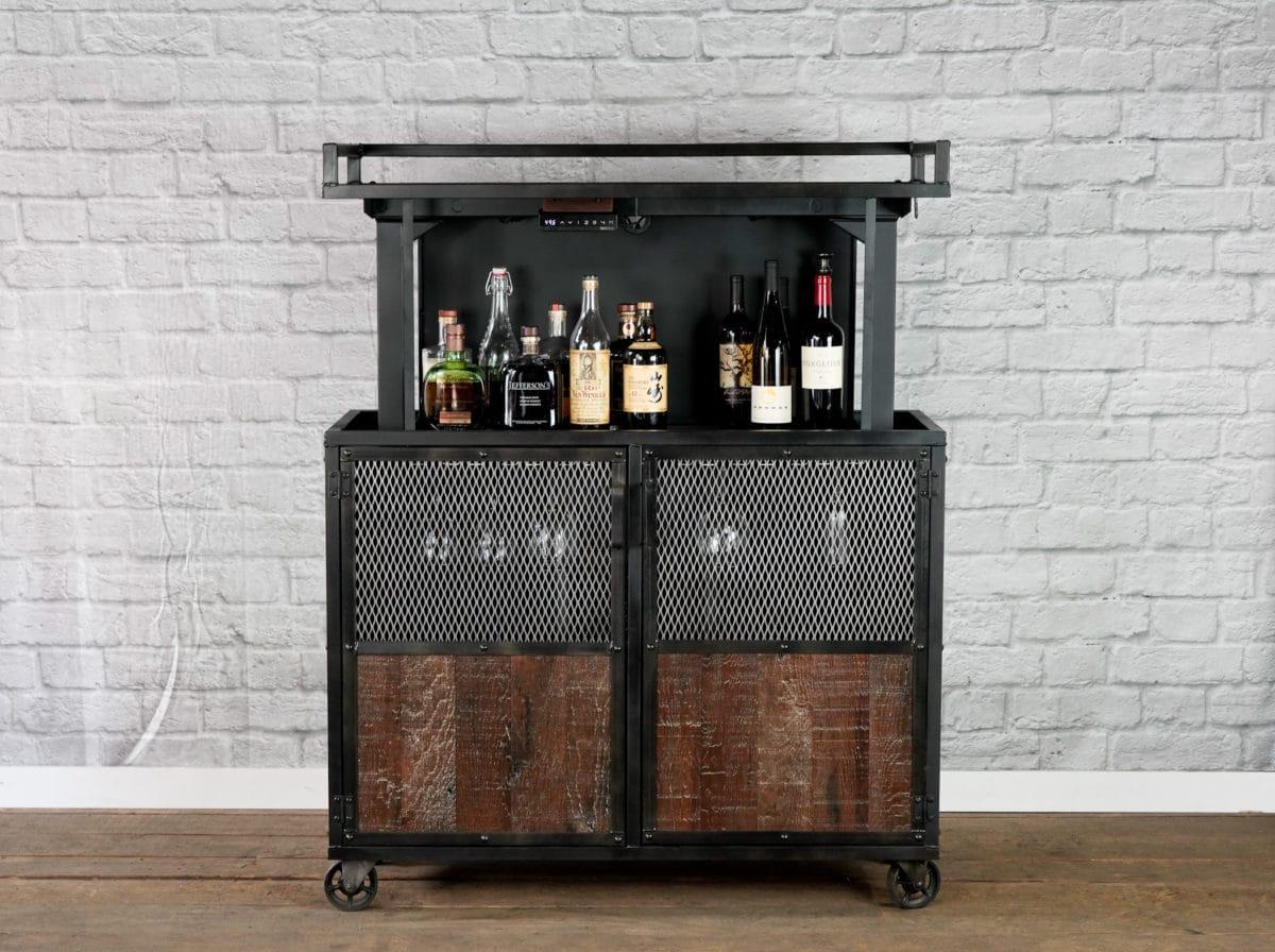 industrial pop up liquor cabinet