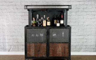 industrial pop up liquor cabinet