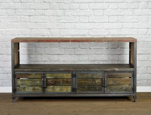 Rustic Media Console, Reclaimed Wood Media Center, Barge Wood